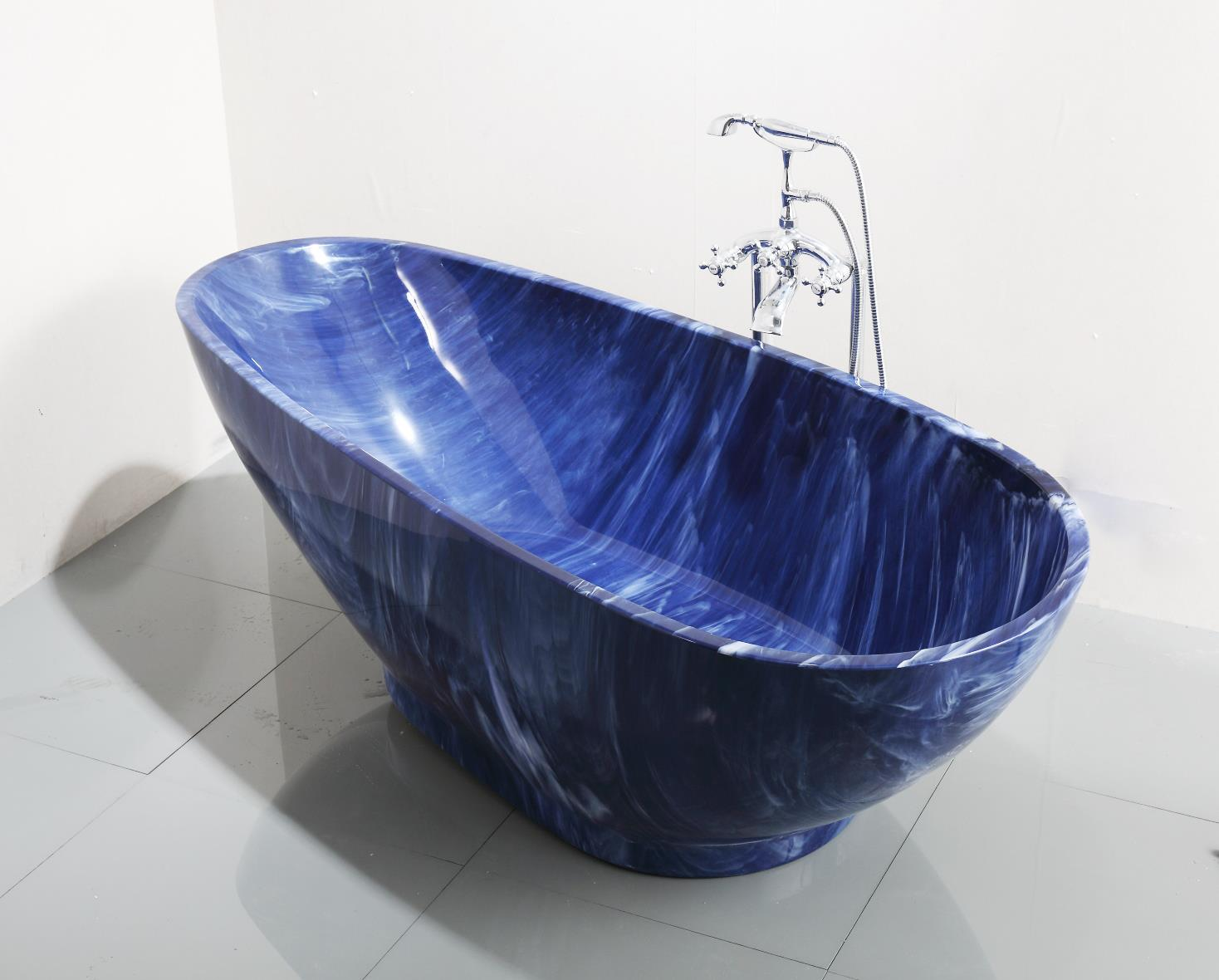 China 2017 luxury blue cloudy irregular acrylic free for Cheap free standing tubs