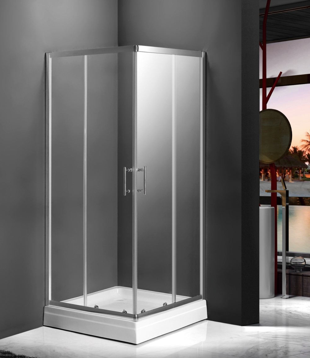 WE-03-Hot Corner Glass Shower Enclosure of Sliding Door with Full Frame_副本.jpg