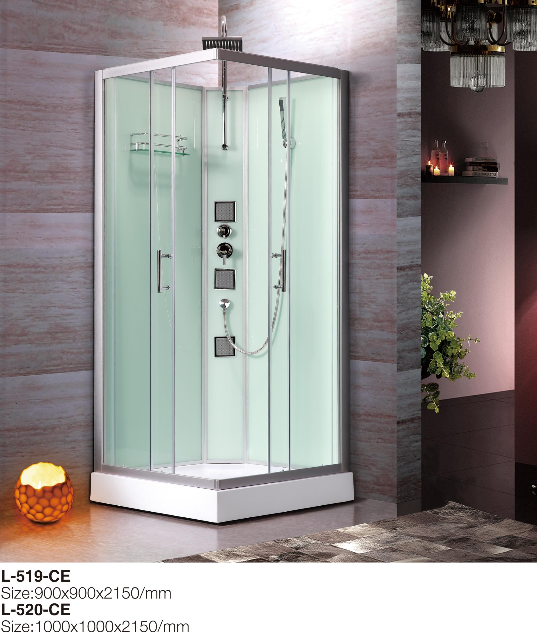 China New Corner Shower Stall Units For Sale With Sliding