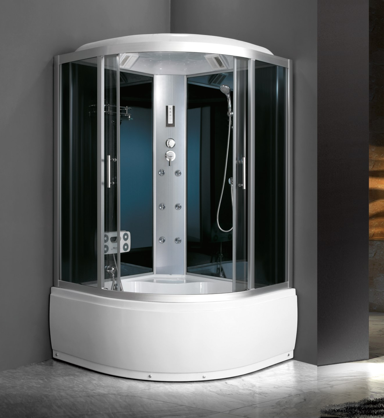 China Quadrant Corner Shower And Tub Combo For Saking And