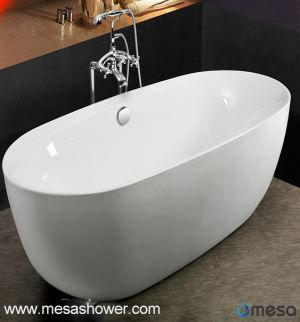 Modern Simple New Arrival Freestanding Oval Acrylic Soaking Tub
