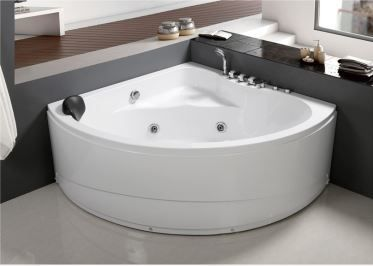 2017 White ABS Corner Round Elegant Jetted Whirlpool Bathroom Bathtub with Cheap Price