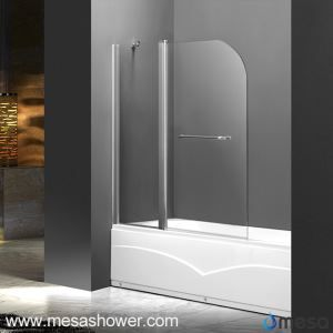 Frameless Tub Shower Pivot Door of Tempered Glass Material