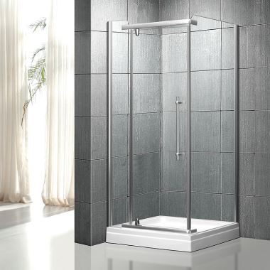 Corner Clear Glass Shower Enclosure