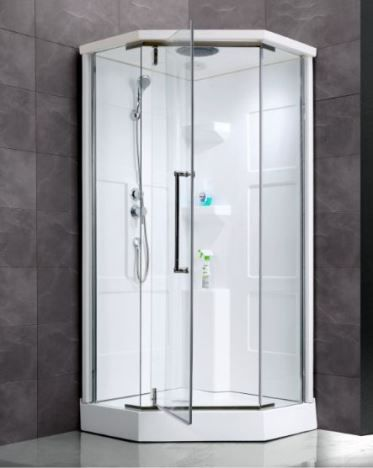 Seamless Shower Back Walls Surround With Neo Angle Shape